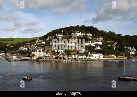 River Dart at Kingswear, Dartmouth, Harbour, Devon,Kingswear is a village and civil parish in the South Hams area - Stock Photo
