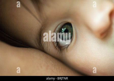 Baby's eye, close-up - Stock Photo