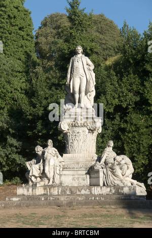 Monument to Goethe, Villa Borghese, Rome - Stock Photo