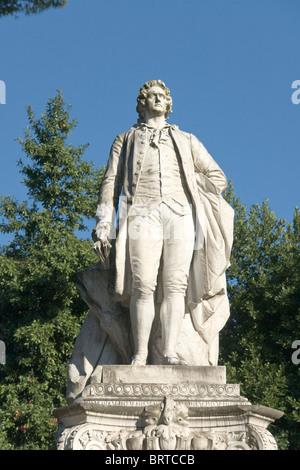 Monument to Goethe, Rome - Stock Photo