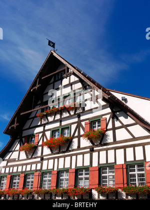 Half-timbered house in Ravensburg, Germany - Stock Photo