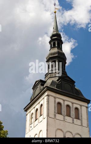 Niguliste Church, Tallinn, Estonia, Baltic States - Stock Photo
