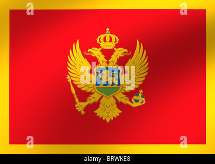 Montenegro flag - Stock Photo