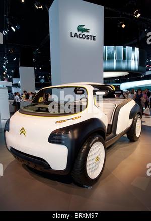Citroen Lacoste concept vehicle at Paris Motor Show 2010 - Stock Photo