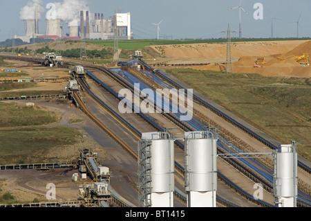 Open-cast coal mine, Germany. - Stock Photo