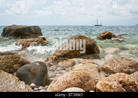 big stones on tranquil sea - Stock Photo