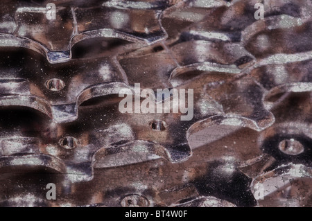 bicycle cog cassette details grunge background - Stock Photo