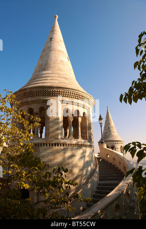 Fisherman's Bastion - Castle District, Budapest, Hungary - Stock Photo