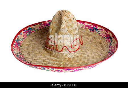 Sombrero Mexico Mexican straw hat shade head cover sun protection dance celebrate celebration accessory - Stock Photo