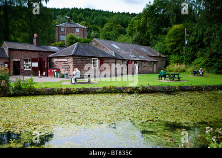 High Peak Junction workshop on the Cromford canal, Derbyshire, England, UK - Stock Photo
