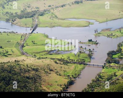 Lake Wivenhoe Bridges - Stock Photo