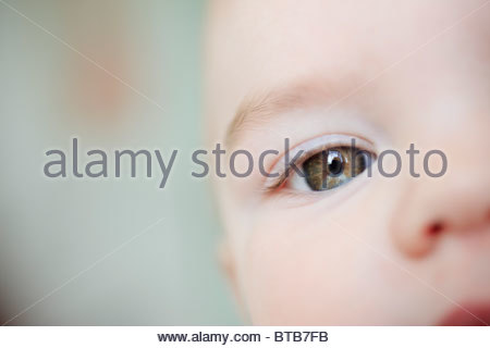 Close up of baby's eye - Stock Photo