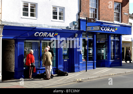 Coral bookmakers, Ludlow, Shropshire, England, UK - Stock Photo