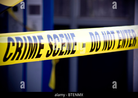 Police crime scene - Stock Photo