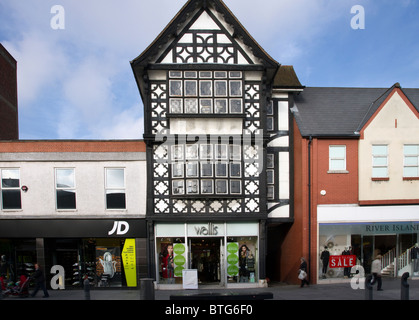 Wallis _Buildings and the Architectural Streetscape of Lord Street shops in Southport, Merseyside, UK - Stock Photo