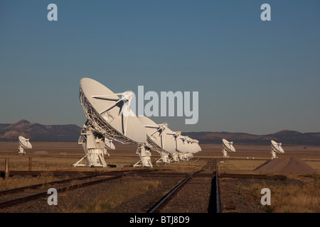The Very Large Array radio telescope, part of the National Radio Astronomy Observatory - Stock Photo