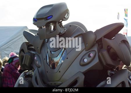 Titan the Robot at Santa Pot Raceway England - Stock Photo