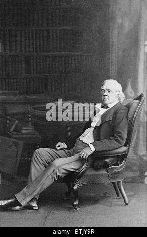 William Makepeace Thackeray (1811-1863) English novelist best known for his classic, 'Vanity Fair' (1847-8). The - Stock Photo