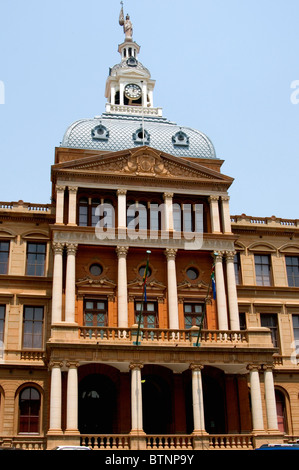 Old Raadsaal or assembly chambers, Church Square, Pretoria - Stock Photo