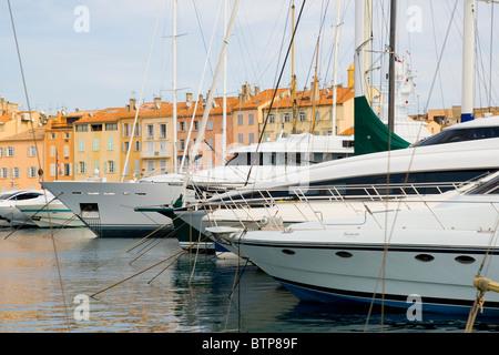 Harbour, St. Tropez, Cote d'Azur, France - Stock Photo