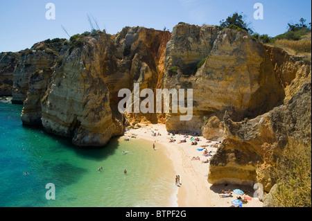 Praia da Dona Ana, Beach, Lagos, Algarve, London - Stock Photo
