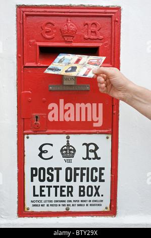 Edward VIII wall post box - Stock Photo