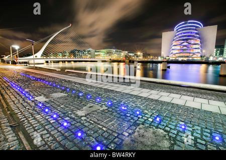 Samuel Beckett Bridge, Dublin . - Stock Photo
