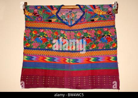 Traditional Maya huipil, Guatemala City, Guatemala - Stock Photo
