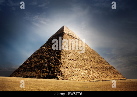 giza pyramids, cairo, egypt - Stock Photo