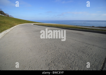 Access road to the RC Harris water treatment plant in Toronto Ontario Canada - Stock Photo