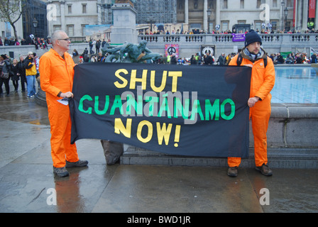 Anti war protest Stop the War Coalition London 2010 - Stock Photo
