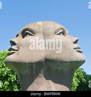 Blik Van Licht, Statue by Charles Delporte, Damme, Flemish Region, Belgium - Stock Photo