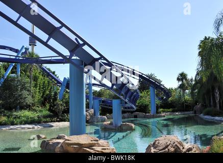 Manta ride Seaworld Orlando Florida - Stock Photo