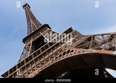 The Tour Eiffel (Tower), Paris - Stock Photo