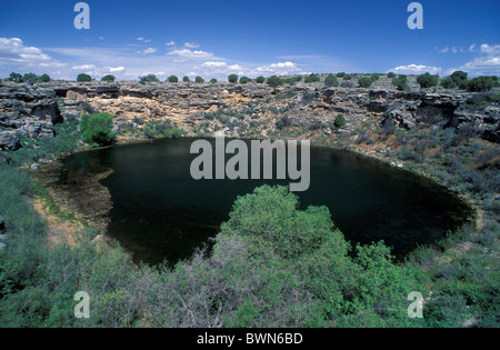 USA America United States North America Montezuma Well Montezuma Castle National Monument Arizona limestone si - Stock Photo