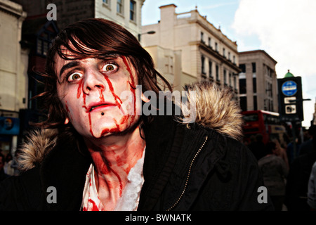 zombie march brighton - Stock Photo