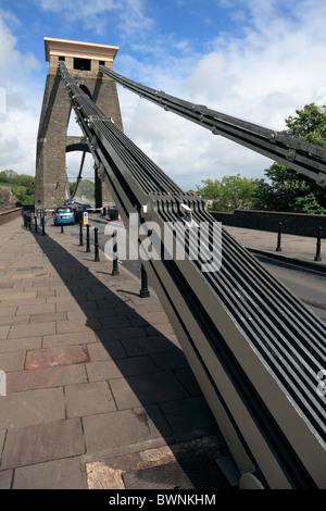 The Clifton Suspension Bridge in Bristol, UK. - Stock Photo
