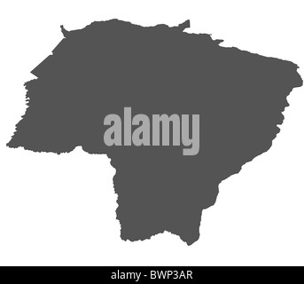 Isolated map of Mato Grosso Do Sul - Brazil - Stock Photo