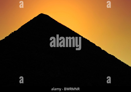 Great Pyramid of Giza at sunset, Giza, Cairo, Egypt. - Stock Photo