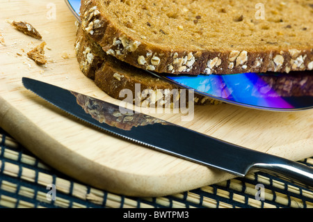 Sandwich with CD - Stock Photo