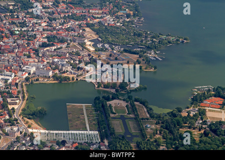Aerial photograph of Schwerin, Mecklenburg-Vorpommern, Germany - Stock Photo