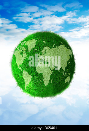Green planet, conceptual artwork - Stock Photo