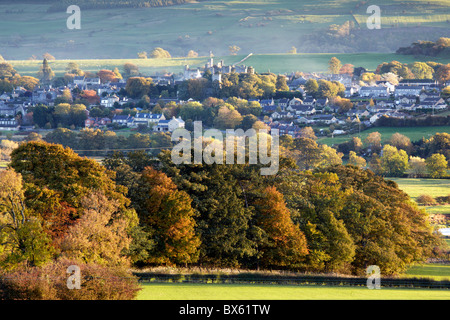 Autumn in Wensleydale: a view of Leyburn, North Yorkshire - Stock Photo