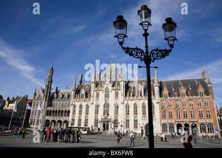 Central Square in Bruges, Belgium, Europe - Stock Photo