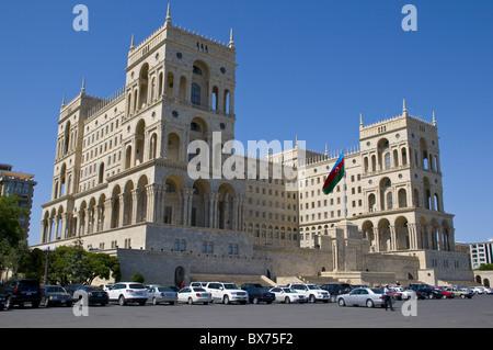 Government House, Dom Soviet, Baku, Azerbaijan, Central Asia, Asia - Stock Photo