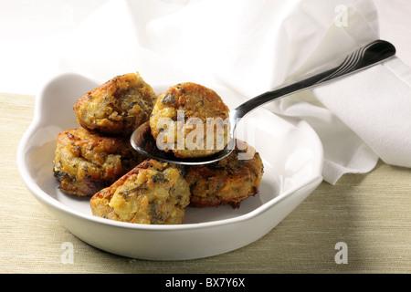 Sage and onion stuffing balls - Stock Photo
