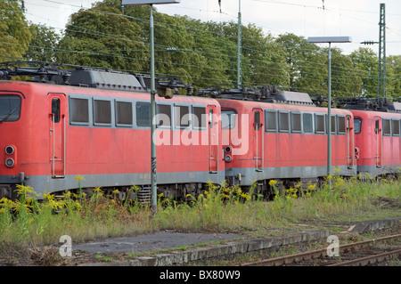 Disused locomotives, Opladen, Germany. - Stock Photo