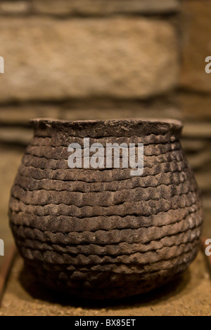 Chacoan ceramic pottery at the Chaco Culture National Historical Park, New Mexico, USA. - Stock Photo