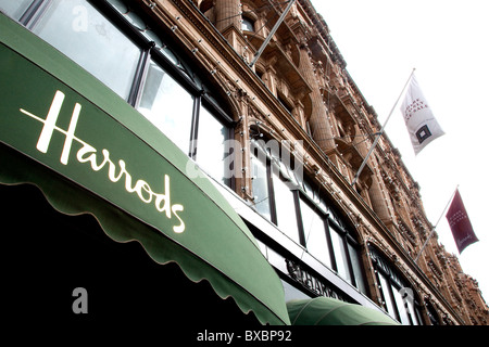 Harrods department store in London, England, United Kingdom, Europe - Stock Photo