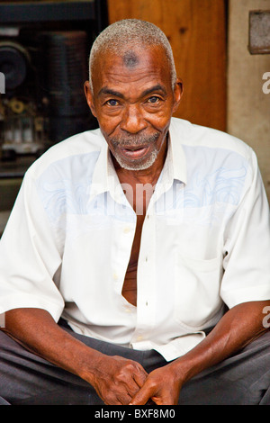 Muslim man, Old Town, Mombasa, Kenya - Stock Photo